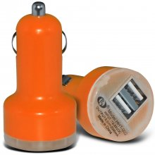 Oranje auto USB charger